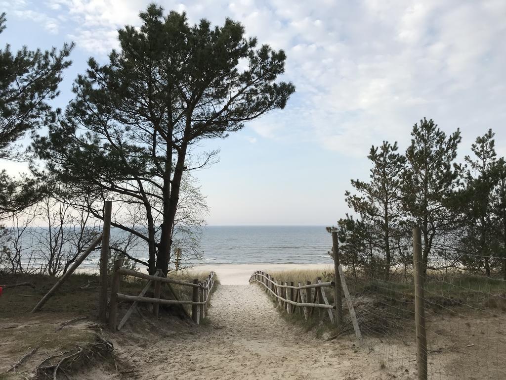 Plaża nad morzem w Dębkach