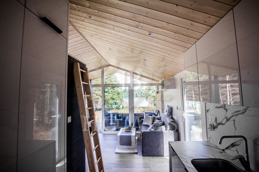 Kuchnia w domku mobilnym JB Black Stone